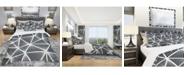 Design Art Designart 'Black and White Geometric Decorative Pattern' Modern Duvet Cover Set - Twin
