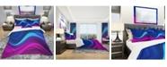 Design Art Designart 'Synchronicity' Modern and Contemporary Duvet Cover Set - Queen