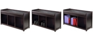 Winsome Addison 2-Piece Storage Bench with Cushion Seat