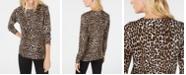 Michael Kors Leopard Print Sweater, Regular & Petite Sizes