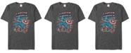 Marvel Men's Comic Collection Retro Captain America Stamp Short Sleeve T-Shirt