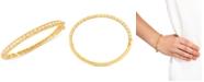 EFFY Collection Effy Oro by EFFY® Bead-Pattern Bangle Bracelet in 14k Gold