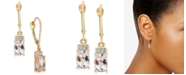 Macy's Pink Amethyst (1-5/8 ct. t.w.) & Diamond (1/20 ct. t.w.) Drop Earrings in 14k Rose Gold