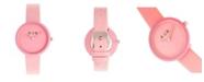 Crayo Unisex Blade Pink Leatherette Strap Watch 37mm