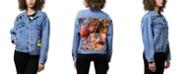ARTISTIX Patched Art Print Denim Jacket