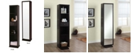 Artiva USA Bella Home Deluxe Merlot Full-Length Mirror and Swivel Shelving Unit
