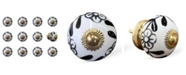 KNOB-IT Handpainted Ceramic Knob Set of 12