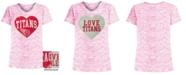 5th & Ocean Big Girls Tennessee Titans Heart Flip Sequin T-Shirt