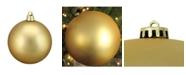 "Northlight Vegas Gold Shatterproof Matte Christmas Ball Ornament 12"" 300mm"