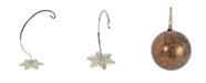 "Northlight 10.25"" Silver Snowflake Shaped Christmas Ornament Holder"