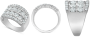 Macy's Diamond Multi-Row Band (3 ct. t.w.) in 14k White Gold