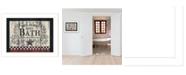 "Trendy Decor 4U Hot Bath by Linda Spivey, Ready to hang Framed Print, White Frame, 18"" x 14"""