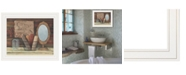 "Trendy Decor 4U Country Bath by Pam Britton, Ready to hang Framed print, White Frame, 17"" x 14"""