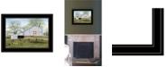 "Trendy Decor 4U Tulip Quilt Block Barn by Billy Jacobs, Ready to hang Framed Print, Black Frame, 19"" x 15"""
