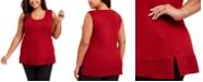 Anne Klein Plus Size Split-Hem Tank Top