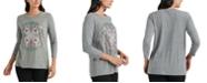 Lucky Brand Mandala 3/4-Sleeve T-Shirt