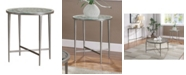 Furniture of America Porcelain Steel Frame End Table