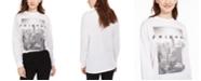Modern Lux Jerry Leigh Juniors' Friends Logo Long-Sleeved Graphic T-Shirt