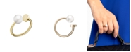 Calvin Klein Bubbly Stainless Steel and PVD Champagne Gold White Imitation Pearl Ring