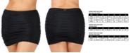 Raisins Curve Trendy Plus Size Juniors' Ruched Costa High-Waist Swim Skirt