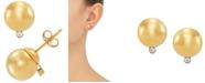 Macy's Diamond Accent Ball Stud Earrings in 10k Gold
