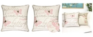 Homey Cozy Rose Embroidery Square Decorative Throw Pillow
