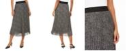 Alfani Pleated Metallic Midi Skirt, Created for Macy's