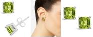 Macy's Peridot (2-1/3 ct. t.w.) Stud Earrings in Sterling Silver