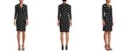 Anne Klein Nomad Printed Faux-Wrap Dress