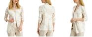 Alfani Floral-Print 3/4-Sleeve Blazer, Created for Macy's