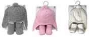 Baby Mode Signature Cable Knit Fleece Lined Baby Hat and Boots