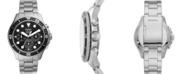 Fossil Men's Chronograph Mega Machine Stainless Steel Bracelet Watch 46mm