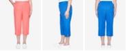 Alfred Dunner Plus Size Pull On Twill Grommet Trim Capri