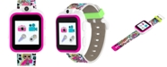 iTouch Kid's LOL Surprise! O.M.G. PlayZoom Rainbow Neon TPU Strap Touchscreen Smart Watch 52x42mm