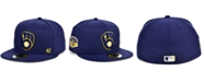 New Era Men's Milwaukee Brewers Jackie Robinson 50th Patch 59FIFTY-FITTED Cap