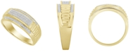 Macy's Men's Diamond (1/5 ct. t.w.) Ring in 10K Yellow Gold