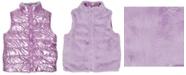Epic Threads Big Girls Shiny Reversible Vest