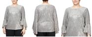 Alex Evenings Plus Size Metallic-Knit Blouse