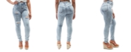 Dollhouse Juniors Acid Wash High Rise Curvy Distressed Jeans
