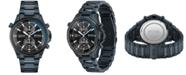 BOSS Men's Globetrotter Chronograph Blue Stainless Steel Bracelet Watch 46mm