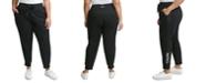 Calvin Klein Plus Size Ribbed Logo Jogger Pants