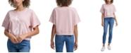 Calvin Klein Jeans Distressed Logo Short Sleeve Sweatshirt