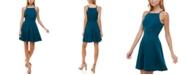 Trixxi Juniors' Open-Trim Fit & Flare Dress
