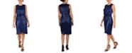 Donna Ricco Liquid Jersey Twist-Knot Sheath Dress
