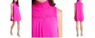 1.STATE High-Neck Smocked Dress