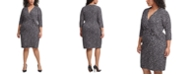 Jessica Howard Plus Size Dot-Print Jersey Sheath Dress