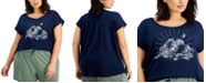 Style & Co Plus Size Printed Scoop-Neck T-Shirt, Created for Macy's