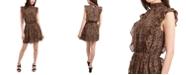 1.STATE Sleeveless Mock-Neck Ruffle Dress