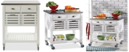 Linon Home Decor Robbin Kitchen Cart, White