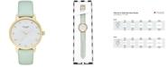 kate spade new york Women's Monogram Metro Mint Splash Leather Strap Watch 34mm KSW1100